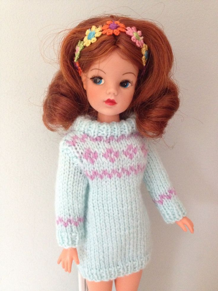 Hand knitted jumper for Sindy