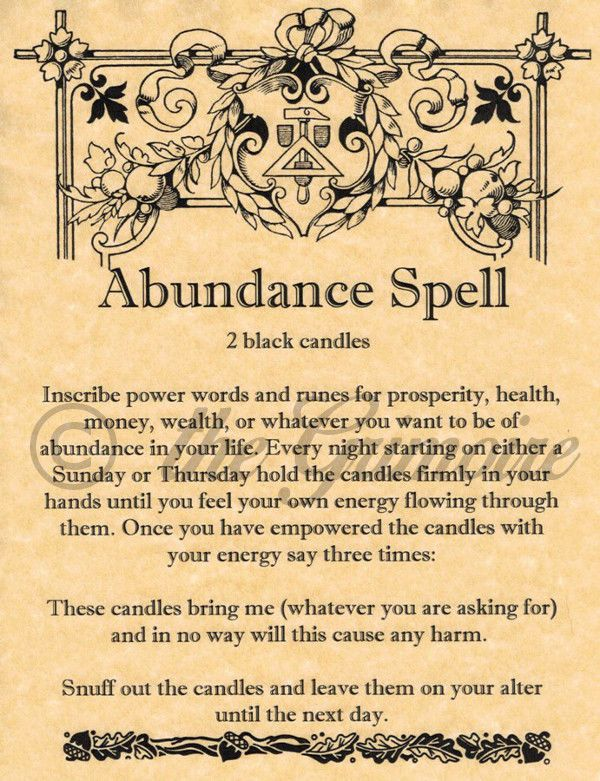 Book of Shadows Page - ABUNDANCE SPELL - Money Spell - Ships Fast - Witchcraft picclick.com