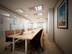 Desain ruang meeting yang elegan dapat membuat susana meeting menjadi lebih kondusif.