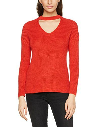flame 34 Knt Onlkristi Rouge Choker Scarlet Ls Pull Only Pullover Femme 8w7HH