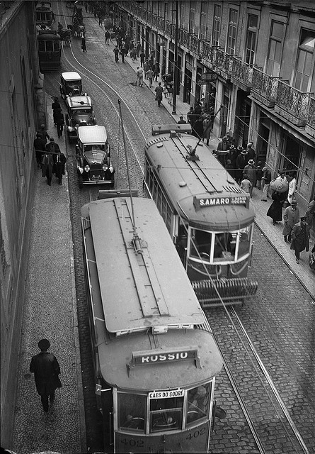 Eléctrico, Rua do Arsenal, Lisboa, Portugal