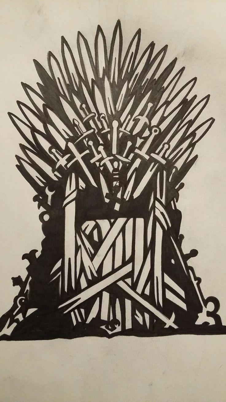Iron Throne Silhouette Game of Thrones- Iron ...
