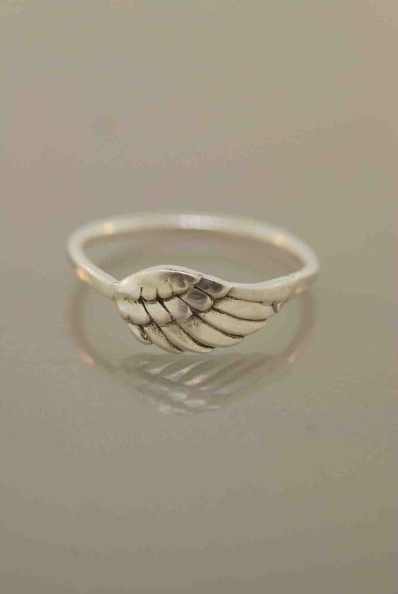 Tiny Angel Wing Ring