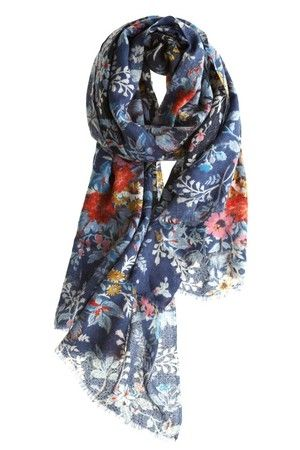 Grace Floral Scarf great gift idea 40+ 50+ 60+ midlife chic/ style/ fashion