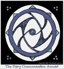Given to us by The Elves of Fyn, this amulet was designed to assist you in communicating with the fairy realm and to enhance that  communication by making it  clearer and more focused.   According to elves, the circle in the center represents the space where both the human and fairy worlds connect.