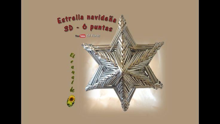 Estrella 3D de seis puntas con papel periódico - 3D Star six-pointed wit...