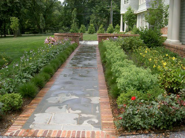 56 best images about front walkway on pinterest for Paving designs for small garden path
