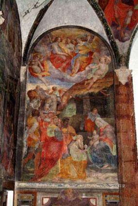 Nicolò Circignani detto il Pomarancio, Epifania  - affresco - Refettorio Monastero di Sant'Anna a Foligno