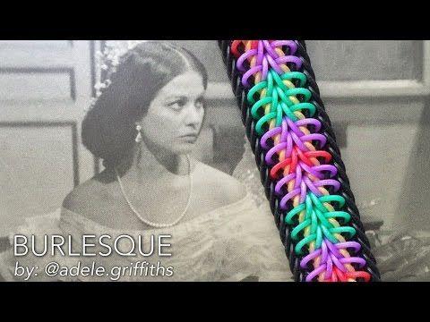 This is a hooked design. No loom needed. *Zuzu* BURLESQUE bracelet design