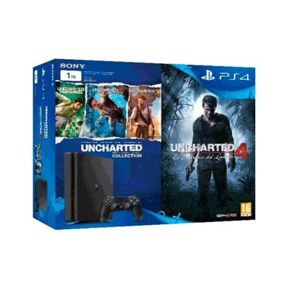 VIDEOCONSOLA SONY PLAYSTATION PS4 1TB SLIM + COLECCIÓN UNCHARTED - Inside-Pc - Inusnet.com - Inside-Pc Baza