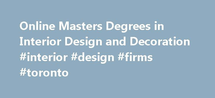 Best 25 interior design institute ideas on pinterest - Master degree in interior design ...