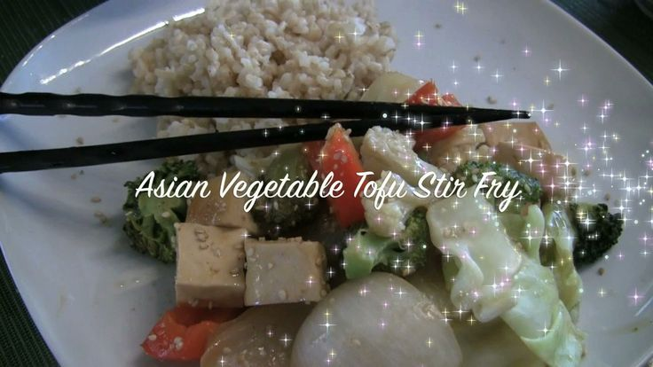 Stir fry: Cooking Videos, Tofu Recipes, Vegan Recipe, Asianvegetabletofu Stir, Asian Vegetables, Ginger Sauce, Sauce Recipe, Vegetable Stir Fry