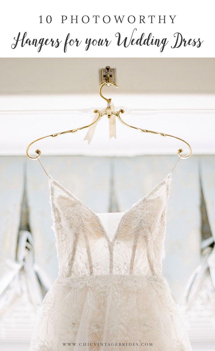 10 Photoworthy Hangers for your Wedding Dress