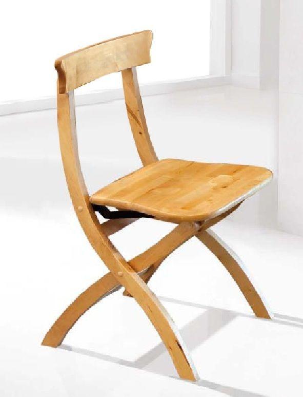 Silla cleri silla plegable en madera maciza color nogal for Silla plegable madera