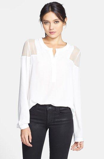 Sheer Shoulder Blouse. Love it.