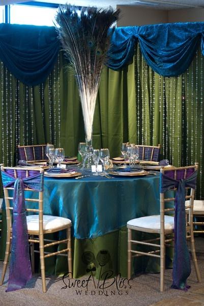 """Arabian Nights"" tablescape #Indian #Wedding #Peacock http://media-cache4.pinterest.com/upload/157696424421645242_eQOX4n8G_f.jpg XinaFrizzell sweet bliss weddings portfolio"