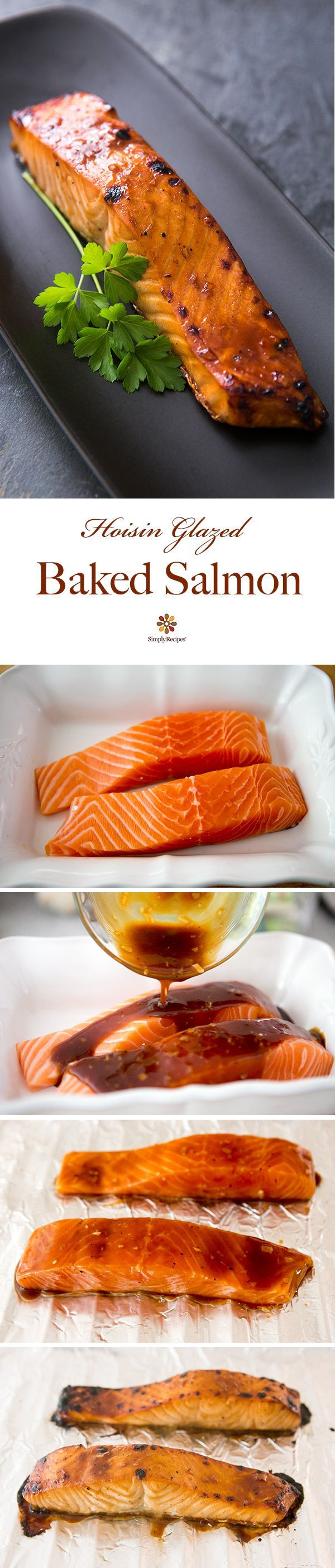Hoisin Glazed Baked Salmon ~ Quick And Easy Broiled Salmon Fillets With A  Hoisin Sauce Glaze