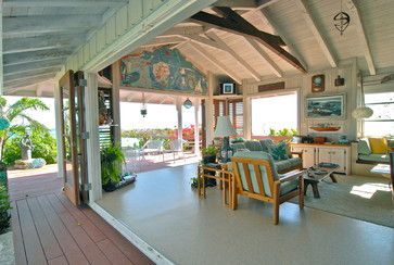 Bahamian Open House - tropical - living room.   Bring the outside in!!