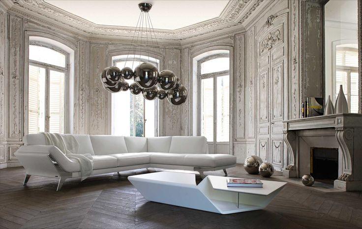 Divani Casa Lidia - Modern Sectional Sofa in Category 3 Italian Leather - Modern Sofas - Living Room