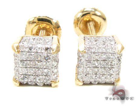 fendi designer belts xg8x  YG Cube Earrings Mens Diamond Earrings