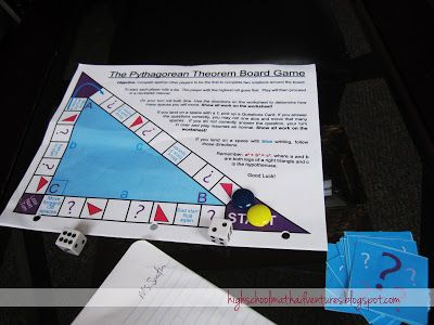 High School Math Adventures with Ms. Smith: Pythagorean Theorem Board Game