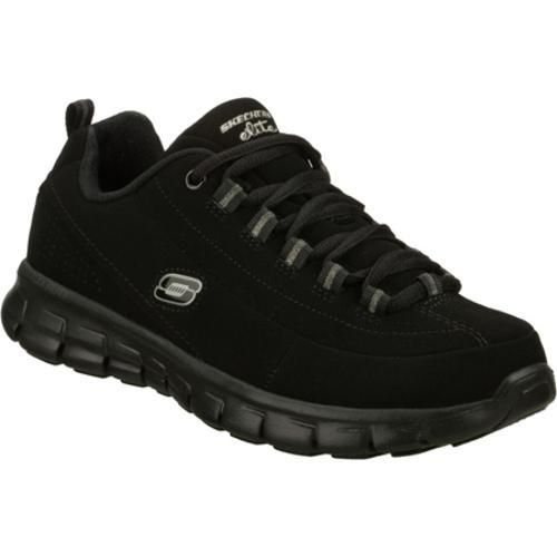 Lead the way in sporty classic style and comfort with the SKECHERS Synergy - Trend Setter shoe. Smooth leather and synthetic upper in a lace up athletic sporty training sneaker with Memory Foam cushioning, stitching and overlay detail.