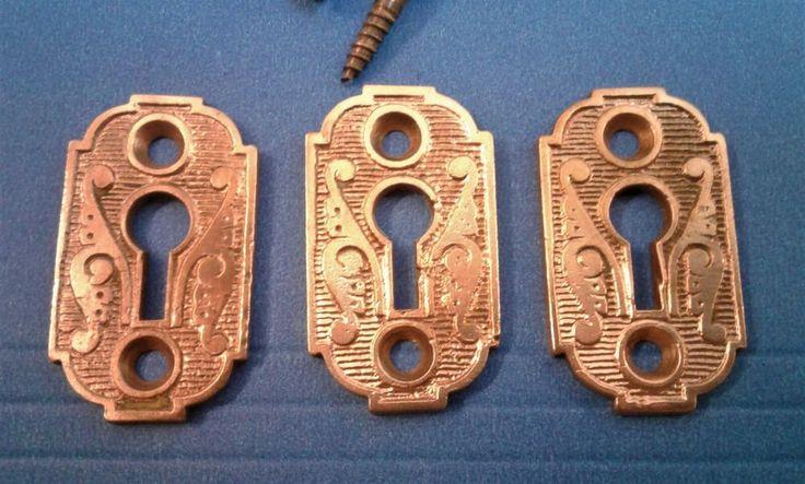 Fancy Victorian Eastlake Brass Keyhole Cover