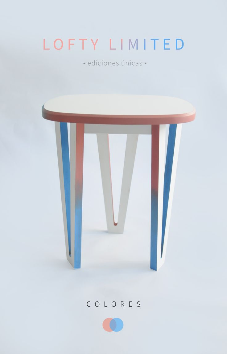 Lofty limited - colorful side table, special edition color combos we absolutely adore :) Design by Marco Cortés Valencia.