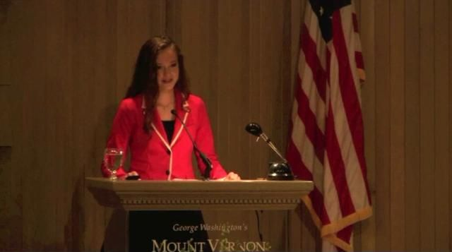 """Click The Video Above to Hear Juliette Discuss the Constitution at the George Washington Symposium at Mt. Vernon. """"The Youngest Scholar ever to Address a Symposium at Mt. Vernon!"""""""