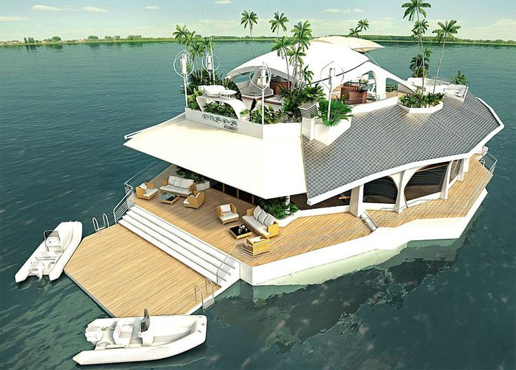 island house.. holy shizzballs: New Home, Floating Islands, Dreams Home, Favorite Places, Houseboats, Luxury Yachts, Lakes Houses, Islands Houses, Beaches Houses
