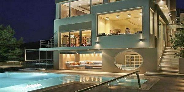 Luxury Home Exterior Design Ideas with Panorama Diamond Villa Exterior Design