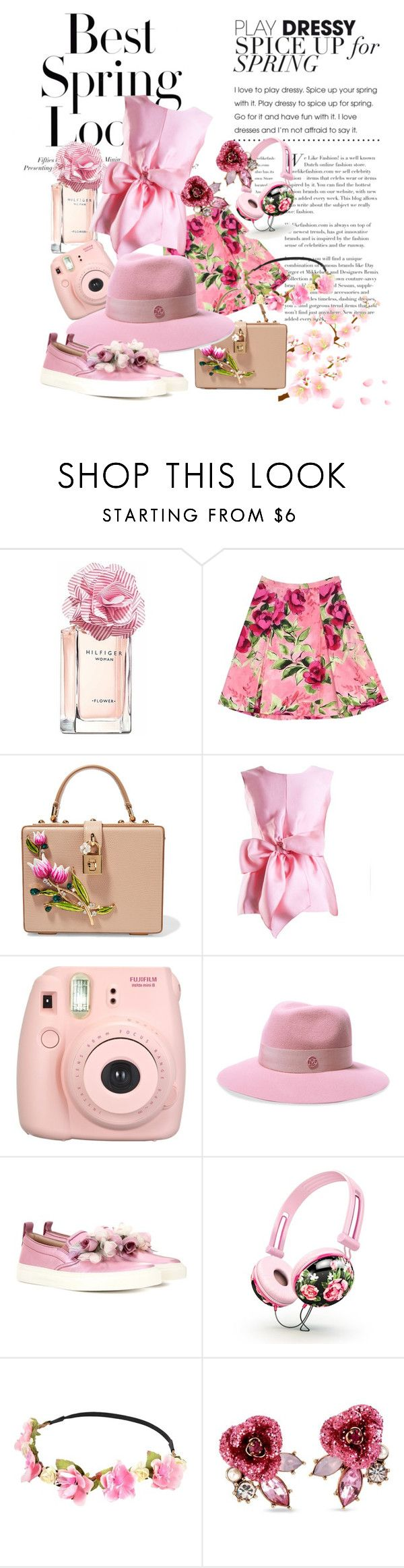 """""""spring fashion"""" by anya2991 on Polyvore featuring H&M, Tommy Hilfiger, Love Moschino, Dolce&Gabbana, Yanny London, Fujifilm, Maison Michel, Gucci and Betsey Johnson"""