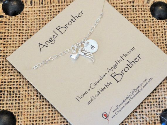 Angel Brother Loss of Brother Death of by HandmadeByRememberMe #LossOfBrother #MemorialJewelry