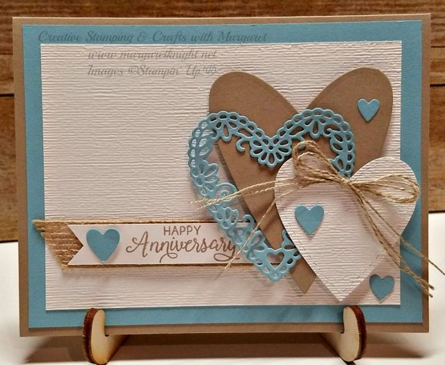 Anniversary Card Using Meant To Be Stamp Bundle From Stampin Up