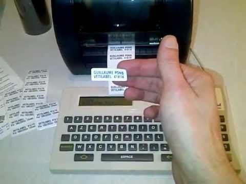 www.vetilabel.com Imprimante autonome transfert thermique Édition d'étiquettes pour le linge des résidents et pour le linge professionnel Fonctionnement simplifié sans ordinateur