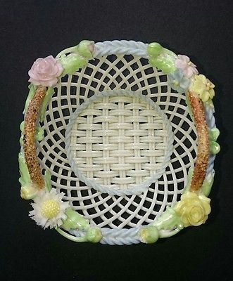 Exquisite-Irish-made-parian-handwoven-floral-basket-roses-shamrocks-amp-dasies