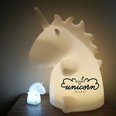 #unicorn giant multi colour lamp! awesome unicorn light. http://wallartkids.com/unicorn-themed-bedroom-ideas