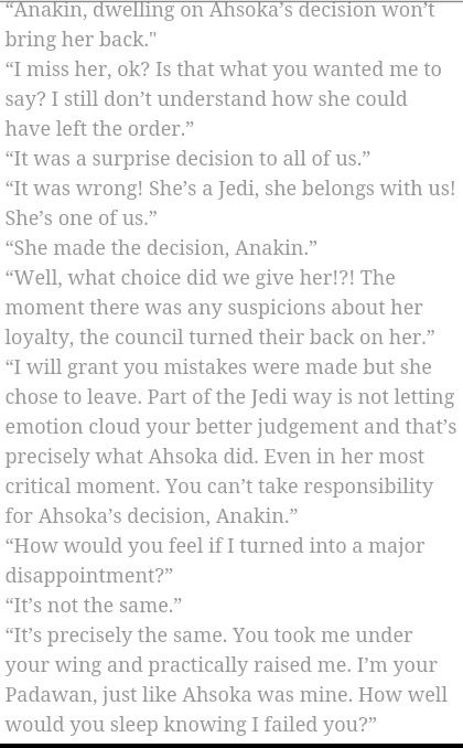 anakin + obi-wan talking about ahsoka<< this was a scene that was written for season 7 of clone wars. I so wish it had happened.
