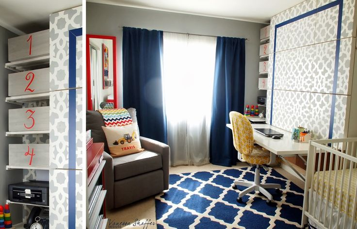 Vanessa Shaffer Designs: Travis' Construction Themed Nursery/Office/Guest room
