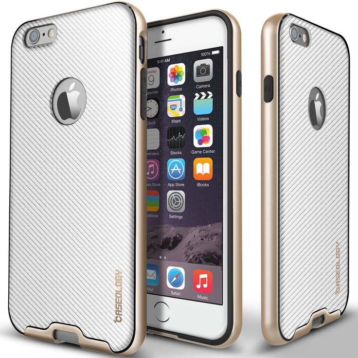 Bumper Frame Case [Carbon Fiber White] for iPhone 6/6S