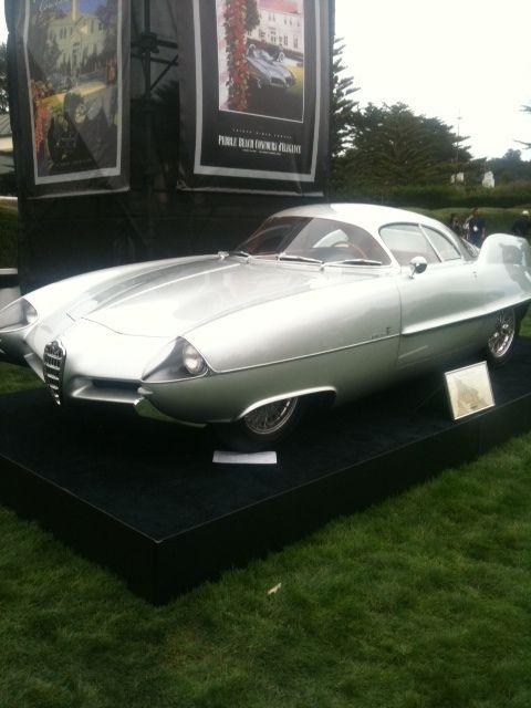 Old Alfa Romeo concept car from Pebble Beach  #alfa #alfaromeo #italiancars @automobiliahq