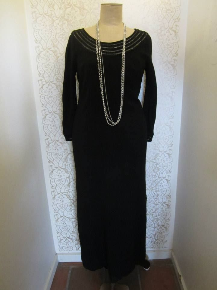 Black beaded 20s gown
