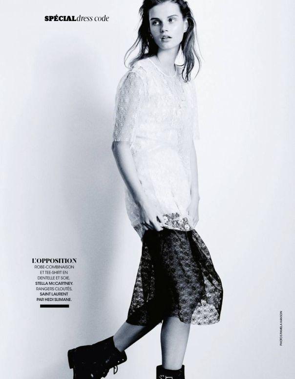 Giedre Dukauskaite by Pamela Hanson for Madame Figaro March 2014