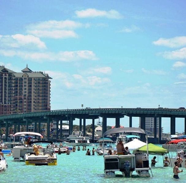 Destin, Florida Crab Island :) a great place to hang out on the Gulf