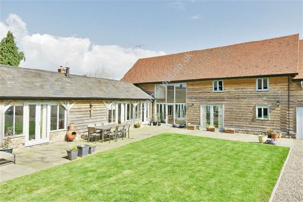 Painted Wooden Windows and Doors to Barn Conversion in Worcestershire by www.brownsjoineryltd.co.uk