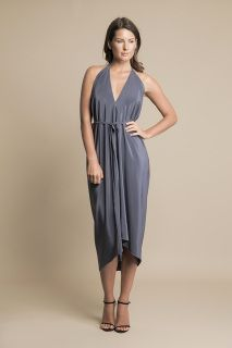 NaMOI's Drape Grecian dress is a loose halter neck style dress made of 100% silk crepe, on the lining and exterior. The matte finish is luxurious and beautiful to wear.   Email kalila@namoidesigns.com for any further details.   SMALL / MEDIUM To fit Australian size 8-12 (pictured)   MEDIUM/ LARGE To Fit Australian size 12-16