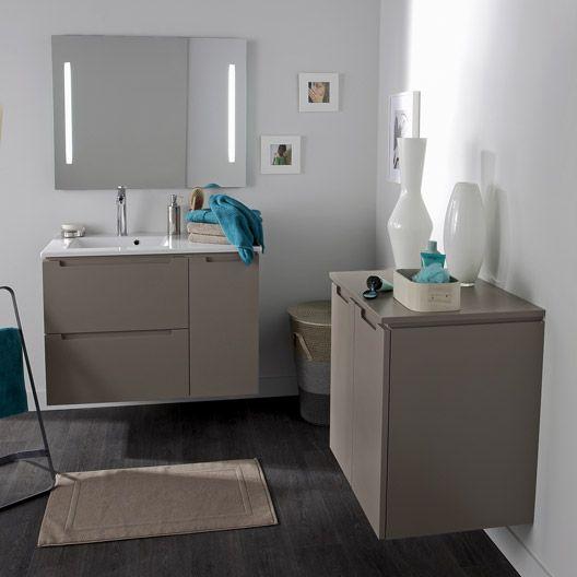 Meuble de salle de bains n o brun taupe id e salle de for Meuble salle de bain taupe