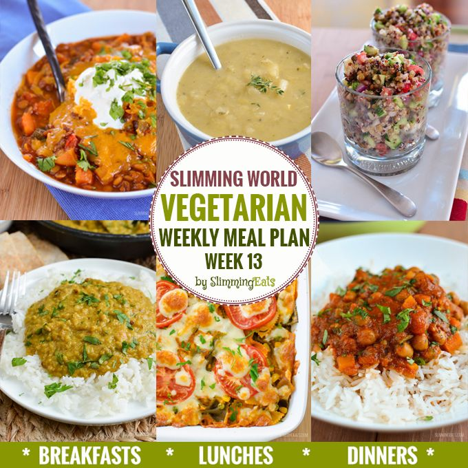 Slimming Eats Vegetarian Weekly Meal Plan - Week 13 - Slimming World Recipes - taking the work out of meal planning so that you can just cook and enjoy the food