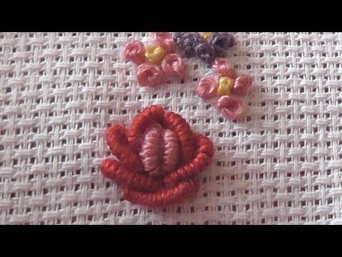 Make a Beautiful Rococo Rose Embroidery - DIY Crafts - Guidecentral - YouTube