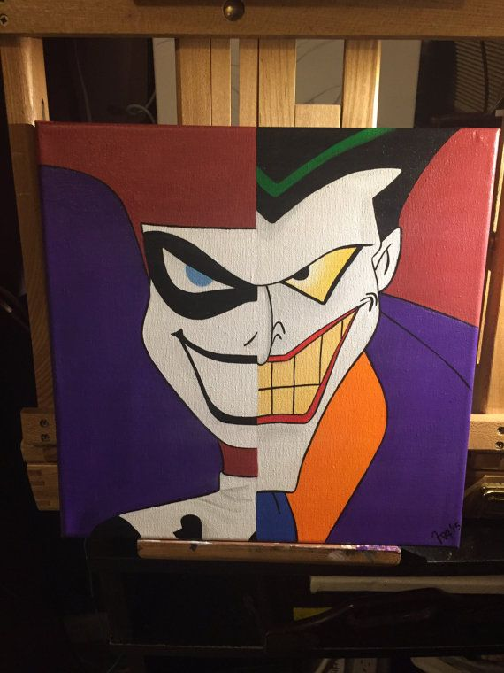 Harley and Joker Painting by VividDelights on Etsy